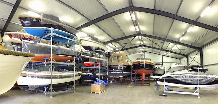 Allround Watersport Meerwijck overdekte bootstalling verwarmd