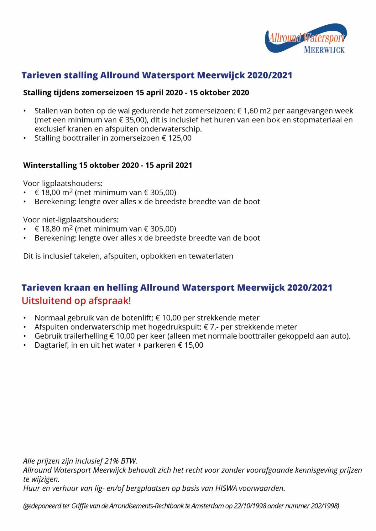 Tarieven-stalling-2020-en-2021-Allround-Watersport-Meerwijck-te-Kropswolde
