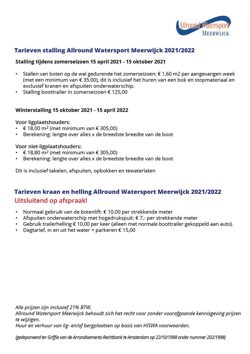 Tarieven-stalling-2021-en-2022-Allround-Watersport-Meerwijck-te-Kropswolde_december-2020